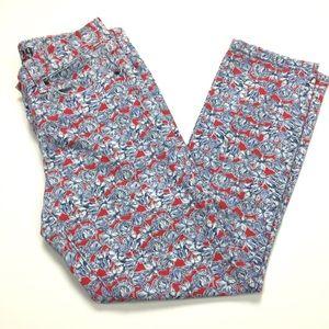 J. Crew Toothpick Ankle Jeans Liberty Art Fabrics
